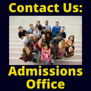 Admissions Office--Contact Us!